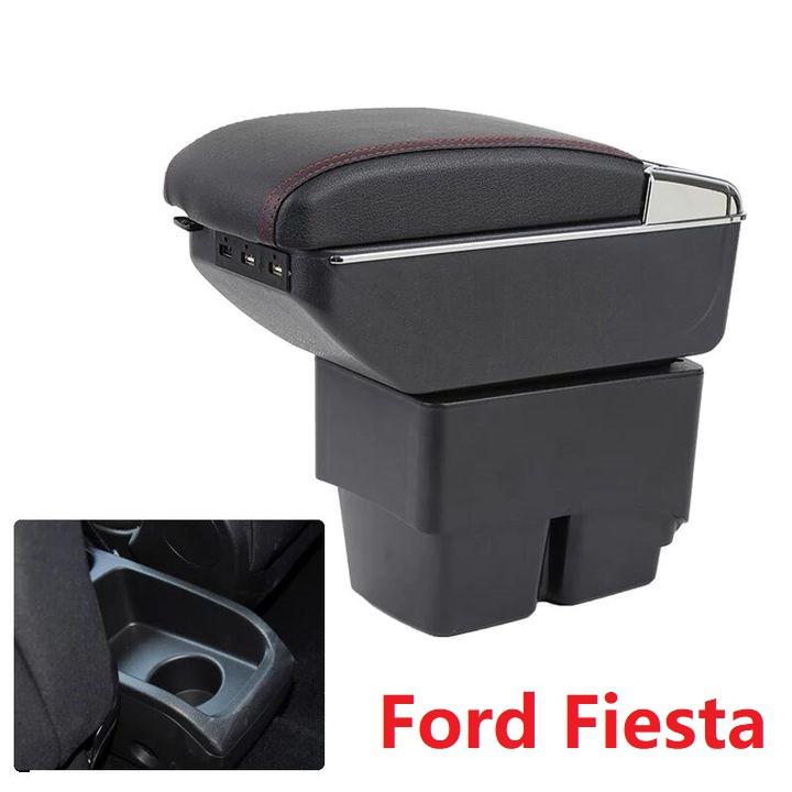 Hộp tỳ tay ô tô Ford Fiesta tích hợp 7 cổng USB