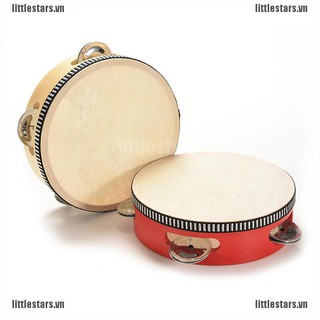 {LUV} 1 X Kids Musical Tambourine Wooden Drum Rattles for Baby Education Toy 2 Colors{CC}