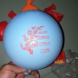 Sét 20 cái bong bóng In chữ Chúc Mừng Năm mới khi bơm 40cm nhiều màu