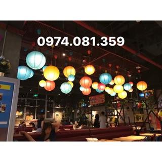 Đèn Lồng Vải Chống Nước Size 25cm ( combo 10 cái)