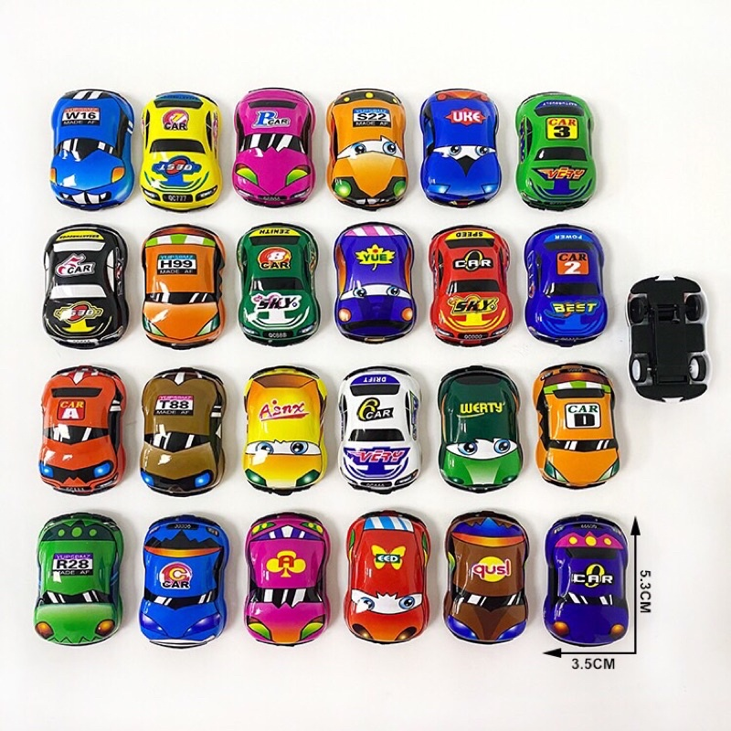 Bộ 25c ô tô mini nhiều màu sắc cho bé