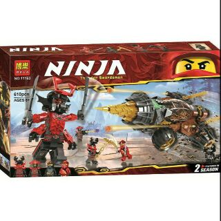LEGO NINJAGO 11163 – CỖ XE MÁY KHOAN CỦA COLE (LEGO COLE'S EARTH DRILLER)
