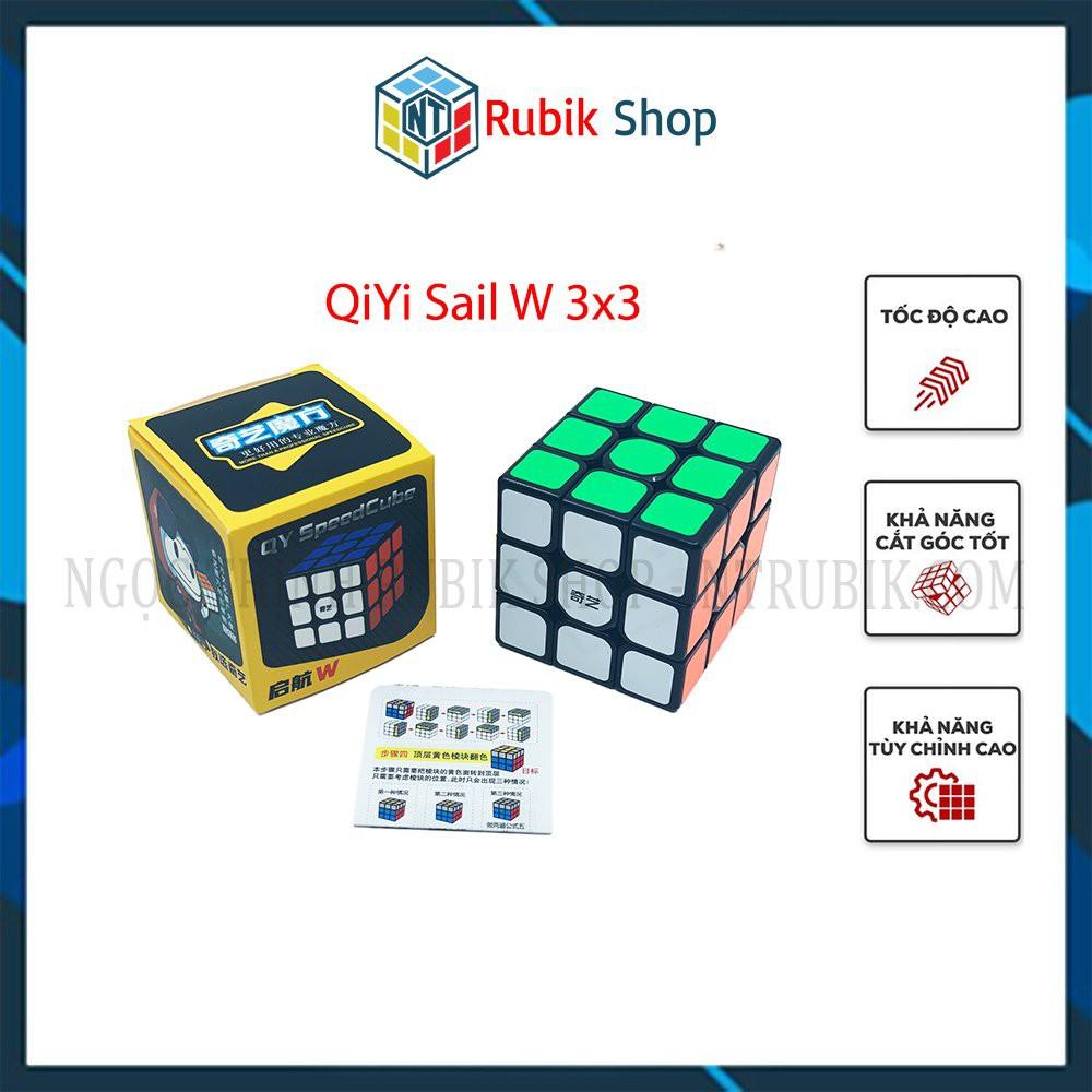 Đồ chơi rubik 3x3x3 – QiYi Sail W 3x3x3 Black/ White (Màu Đen/ Trắng)