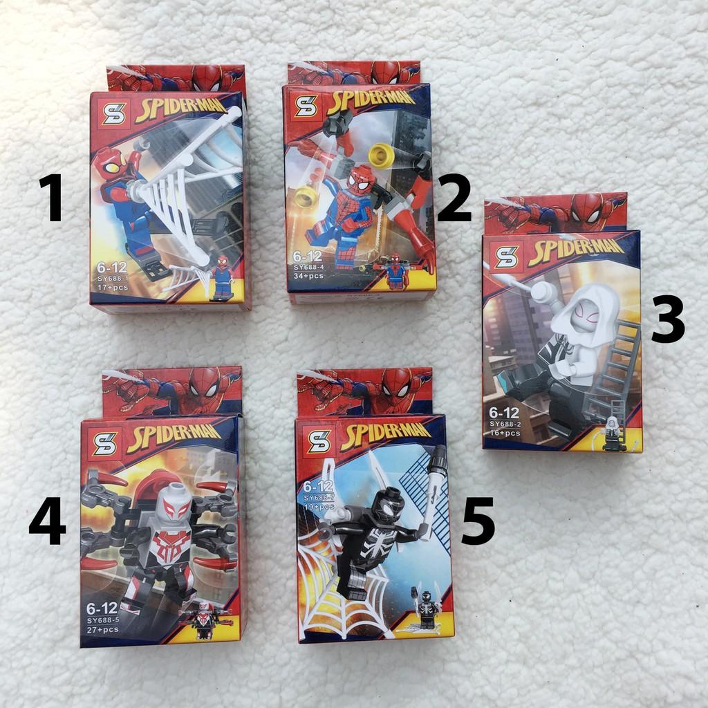 Xếp hình Lego Spiderman (có 5 mẫu )