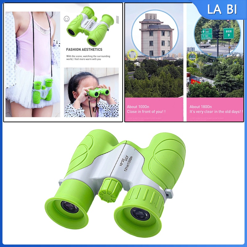 Portable 10x22 Optical HD Binoculars Telescope for Kids Camping Toys, Easy to Focus