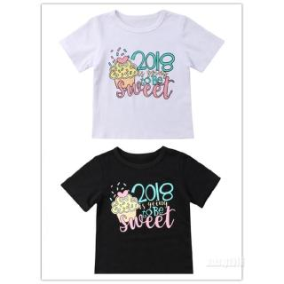 Mu♫-Hot fashion Newborn Infant Baby Girl 2018 T-shirt Short Sleeve Casual Cotton Tee Tops Blouse