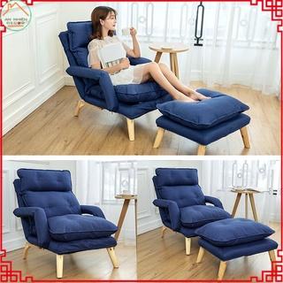 Ghế lười, ghế bành sofa thư giãn nằm đọc sách xem phim kèm đôn