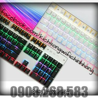 Bàn Phím Cơ Zero E-Sports Gaming Gear Led Rainbow Fullsize 104 phím Cao Cấp Chính Hãng thumbnail
