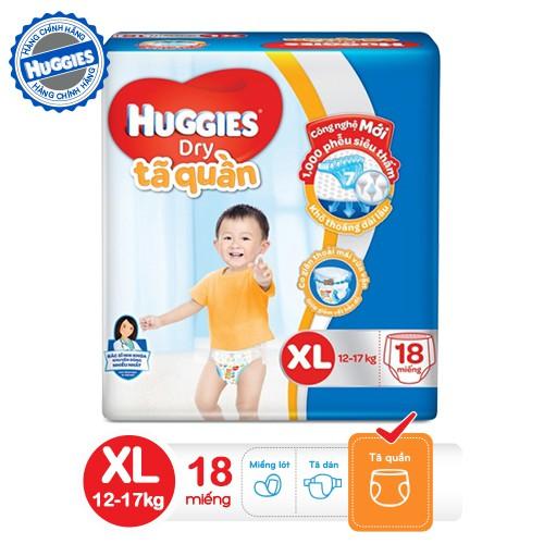 Tã quần HUGGIES DRY PANTS XL18 (11 - 16kg) - Gói 18 miếng-4800060831424 - 3426471 , 526670330 , 322_526670330 , 125000 , Ta-quan-HUGGIES-DRY-PANTS-XL18-11-16kg-Goi-18-mieng-4800060831424-322_526670330 , shopee.vn , Tã quần HUGGIES DRY PANTS XL18 (11 - 16kg) - Gói 18 miếng-4800060831424