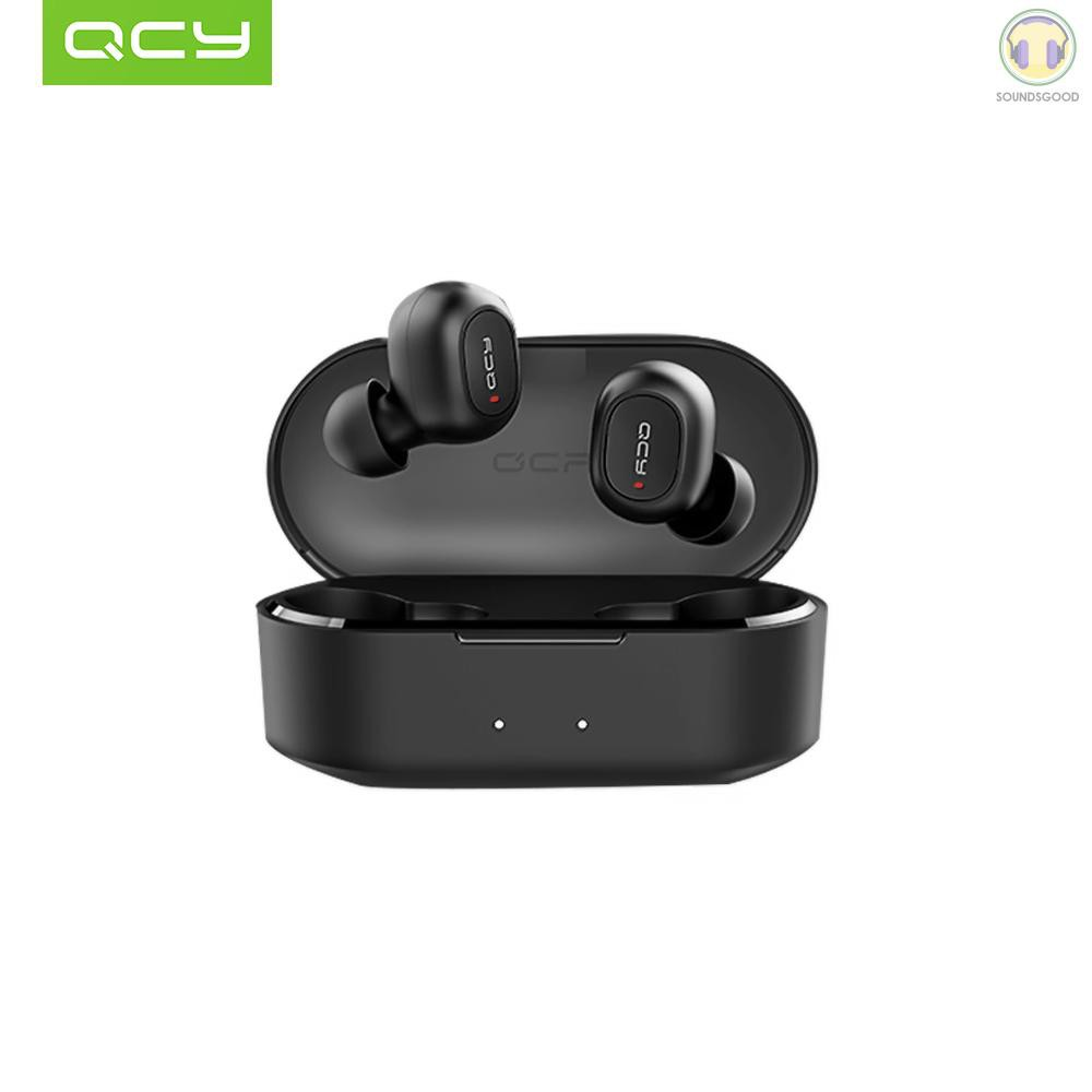 COD Xiaomi QCY T2C TWS BT Wireless Earphones with Dual Microphone 800mAh Charging Box Stereo BT Headsets Sports Running