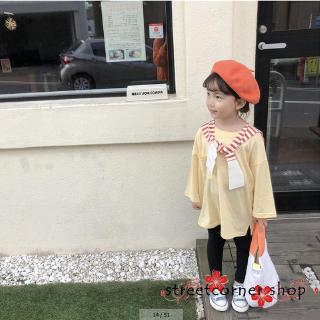 ✿Sc♚Little Girls Top Shirt Oversize Long Sleeve Tee Top
