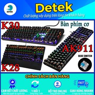 [ có video ] Bàn phím cơ game thủ Detek Urban Radius K28 - K30 - AK911 có đèn LED thumbnail