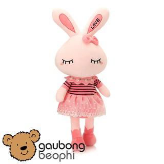 Gấu bông thỏ hồng chân dài hàng cao cấp Chất Lượng size 35cm