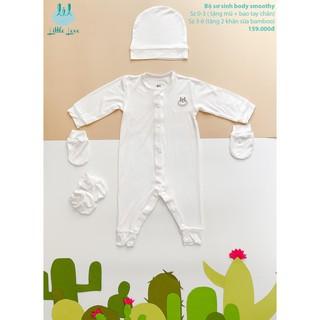 Bộ sơ sinh smoothy trắng-trơn-cho trẻ 0-6 tháng little love