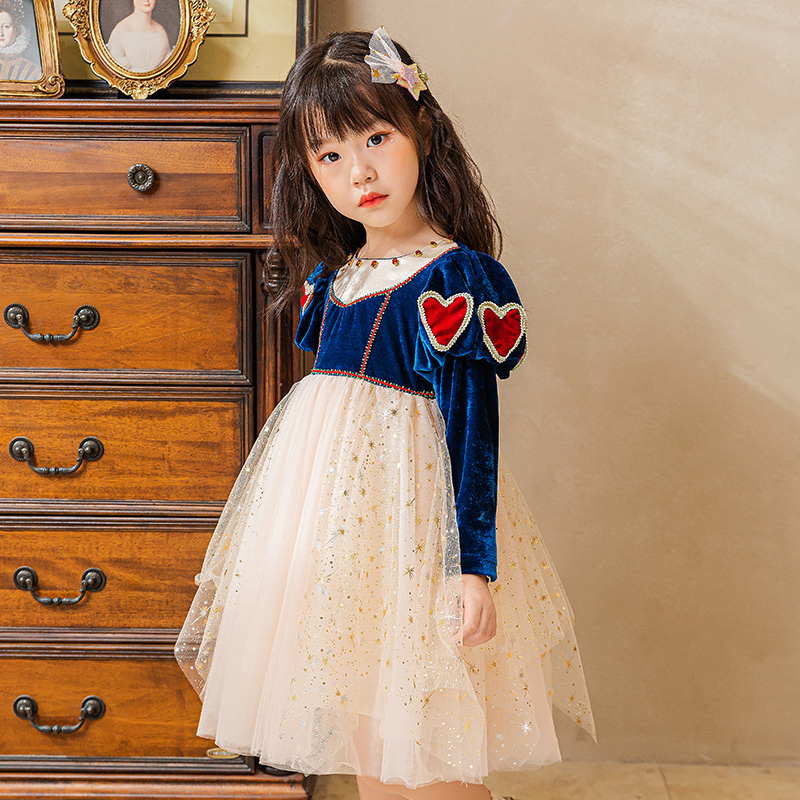 Đầm hóa trang công chúa Bạch Tuyết xinh xắn dành cho bé gái