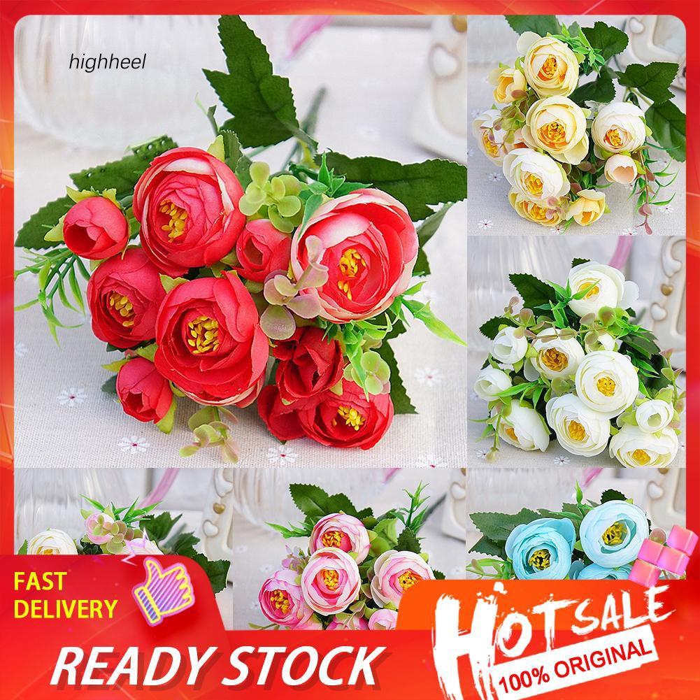 【HHEL】1Pc Artificial Flower Camellia Home Garden Party DIY Photography Props Decor