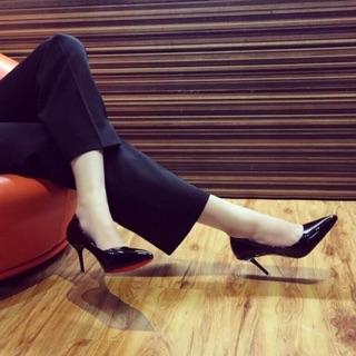 ( ảnh thật ) Giày cao gót công sỏ trơn 7p