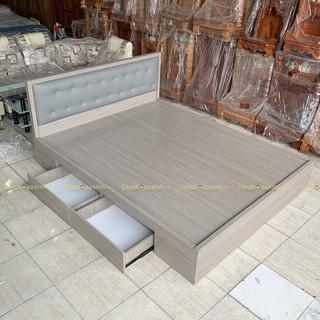 Giường ngủ bọc nệm gỗ MDF 2 hộc kéo CPX-G39