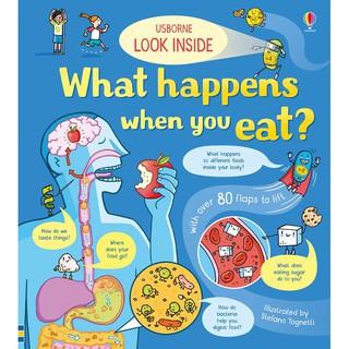 Sách - Look Inside What Happens When You Eat Usborne - lật mở khám phá hành trình của thức ăn trong cơ thể thumbnail