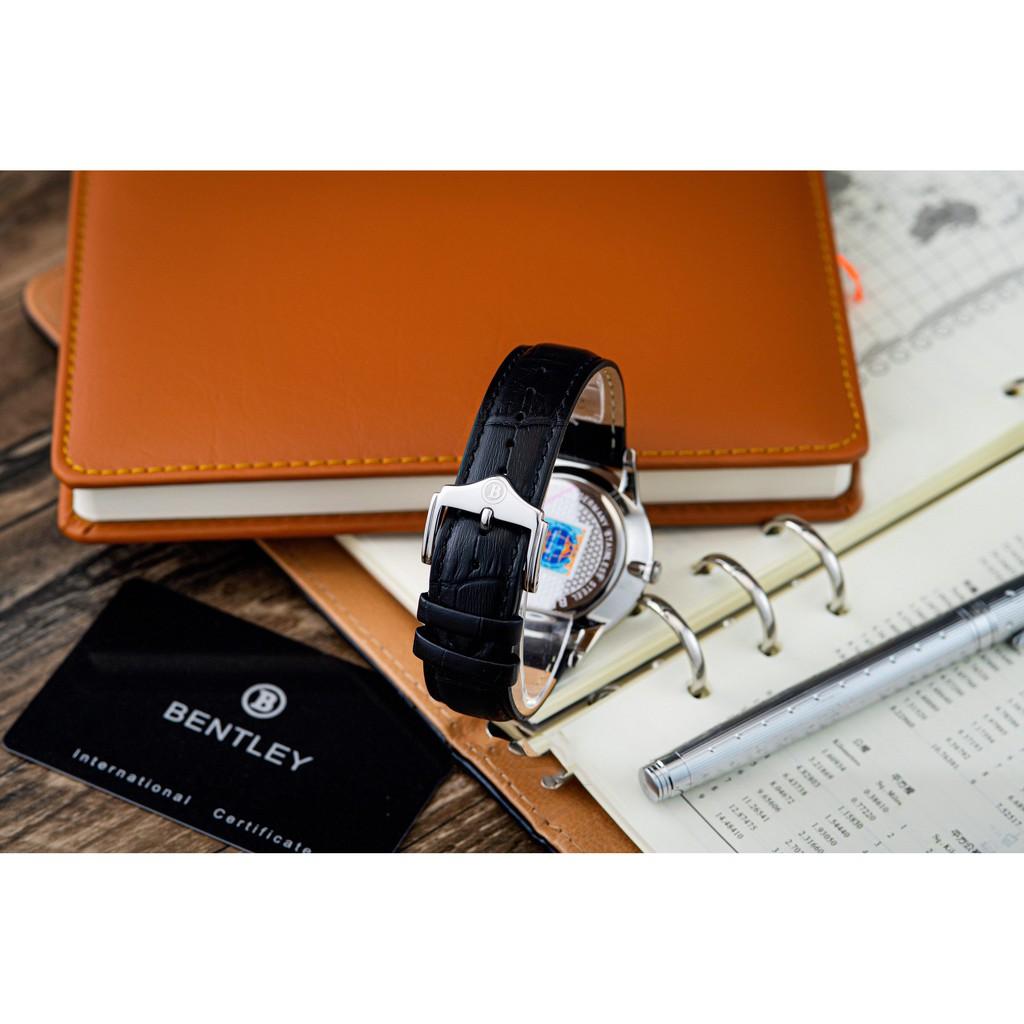 Đồng hồ nam dây da mặt kính chống xước Bentley BL1864 BL1864-10 BL1864-10MWBB