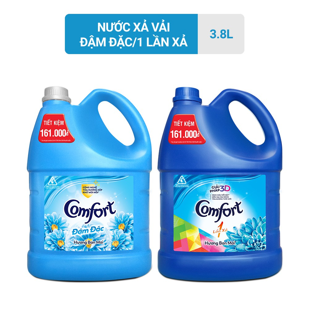 Nước xả vải Comfort đậm đặc 3.8L (Can)