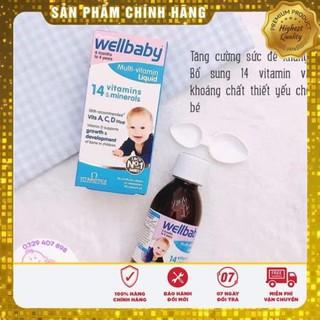 [FreeShip Hàng Auth] Vitamin Tổng Hợp Wellbaby Cho Bé 150ml, Wellbaby 14 Vitamin Tăng Sức Đề Kháng Cho Bé