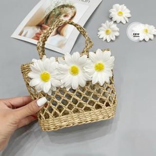 Túi cói hoa cúc ❤️❤️❤️ túi cói hot hit , túi cói handmade , túi cầm tay