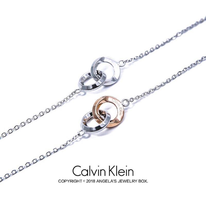 Dây chuyền hai lớp mặt nhẫn đôi Calvin Klein