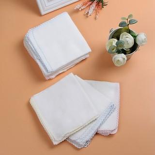 Combo 4 khăn lau cao cấp 100% cotton trắng - Hàng chất lượng size 24 x 24 cm thumbnail