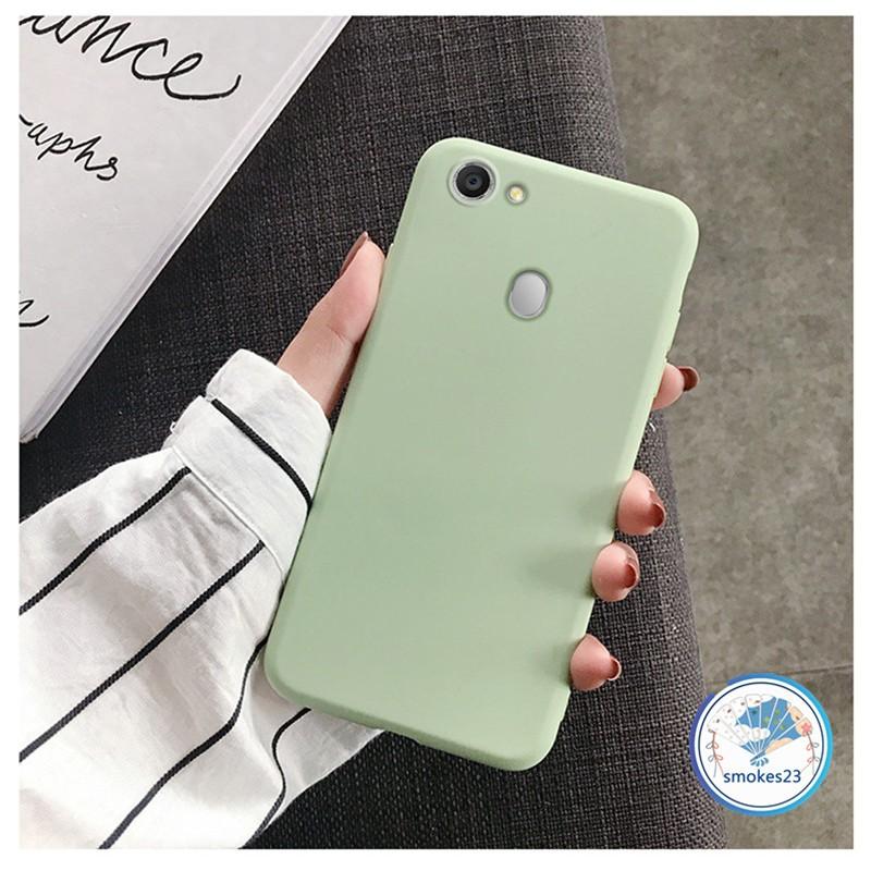 Ốp lưng mềm nền nhám trơn màu cho điện thoại OPPO A71 A59 F1S A83 A79