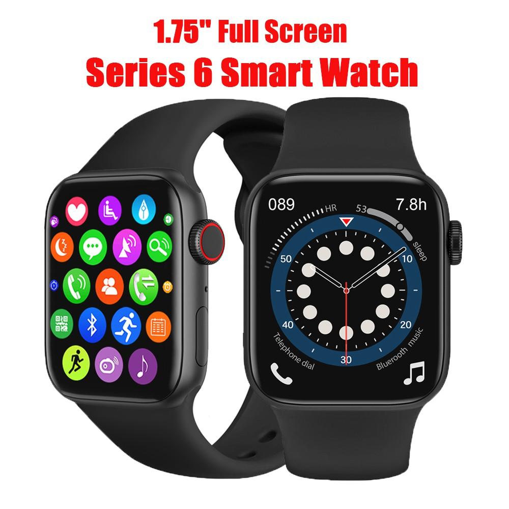 W27 Đồng hồ thông minh 1.75 Inch Series 6 Toàn màn hình cảm ứng Bluetooth Call GPS Music Iwo 15 Smart Watch FK78 W26 HW12 W34 T500