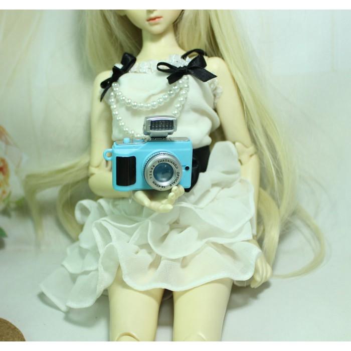 Máy ảnh dành cho búp bê nhỏ có đèn led, không ống kính - phụ kiện búp bê