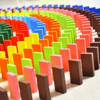 Bộ 100 Thanh Gỗ Domino Nhiều Màu Sắc
