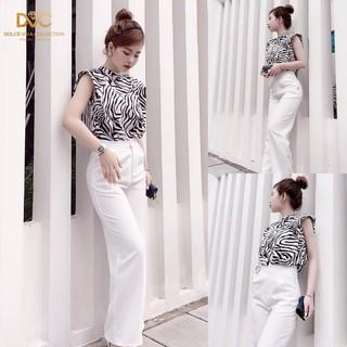Set áo voan lụa phối quần âu cao cấp lên dáng cá tính hợp với các nàng công sở S1873_Zin Boutique [Kèm ảnh thật] thumbnail