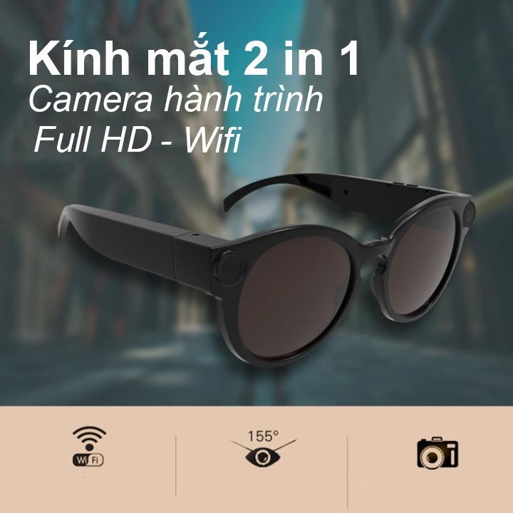 Kính Mắt 2 Trong 1, Camera Hành trình Full HD Wifi Dung Lượng Pin 380mAh