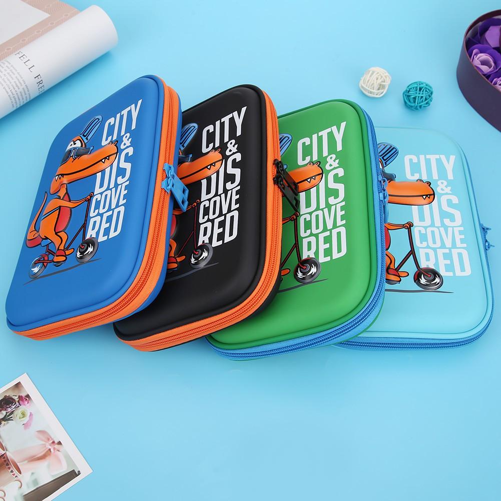 Pencil Case JK Home&Living Cartoon Animals EVA Pencil Bags Cute Large Capacity Student Pencil Case