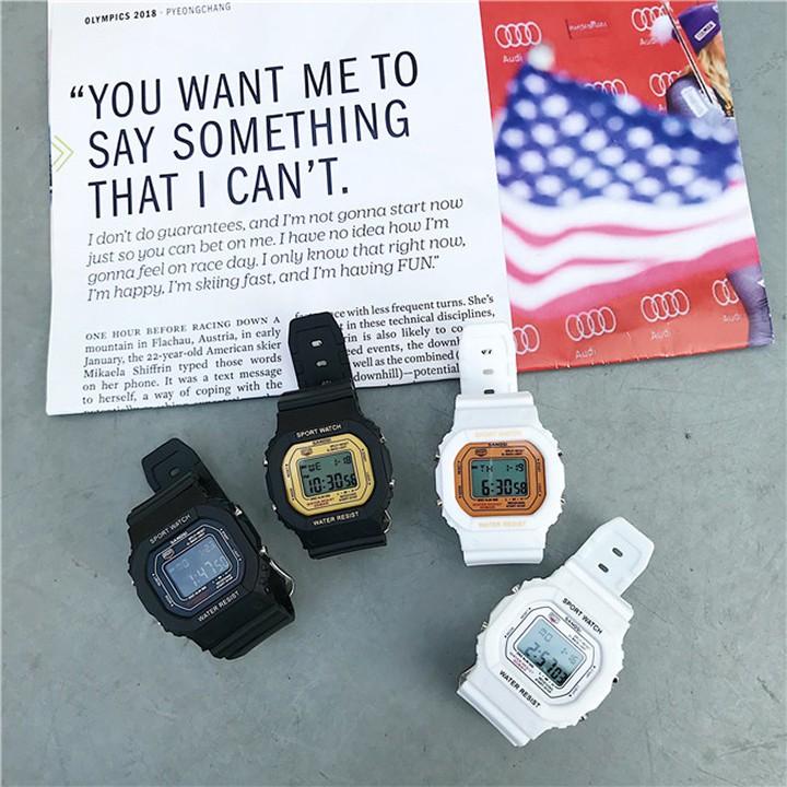 [Mã WTCHNOV20 hoàn 20K xu đơn 99K] Đồng hồ điện tử SANOSI mặt vuông phong cách Unisex