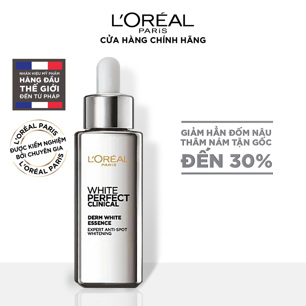 Tinh chất tăng cường dưỡng trắng da, giảm thâm nám L'Oreal Paris White Perfect Clinical 30ml
