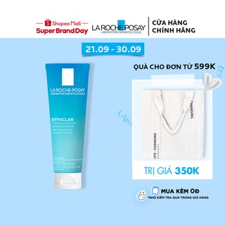 Sữa rửa mặt tạo bọt làm sạch giúp làm sạch sâu và se khít lỗ chân lông La Roche-Posay Effaclar Deep Foaming Cream 125ml