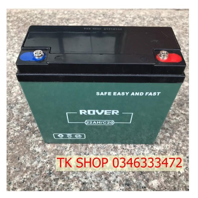 Ắc quy xe điện Bình ắc quy khô 12V 30Ah ROVER 6-DZF-30 (6-DZM-30 / 6DZF30)