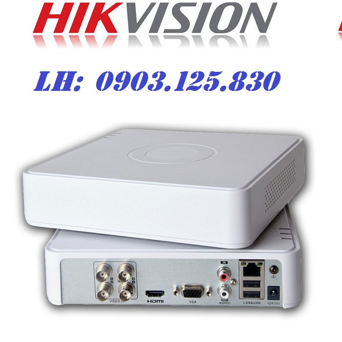 Đầu ghi hình 4 kênh HIKVISION DS-7104HGHI-F1, Hỗ trợ camera HD TVI , HD CVI , AHD , Analog