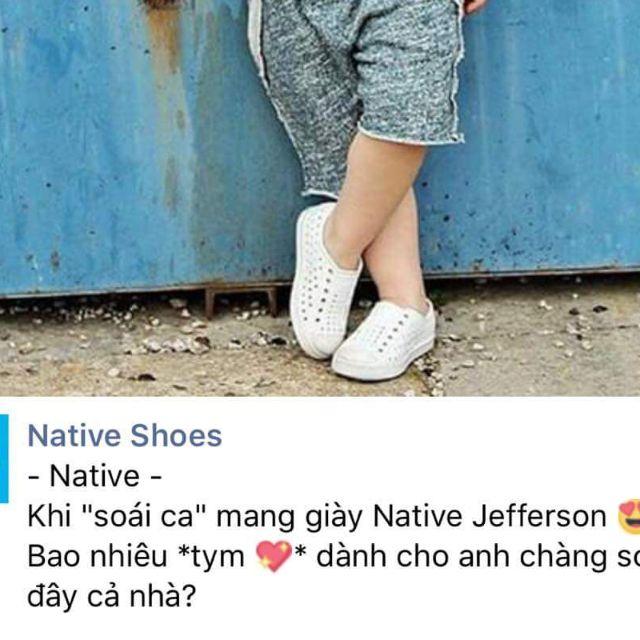 [800k sale còn 125k] Giày nhựa chống nước Native Eva cho bé HẾT TRẮNG