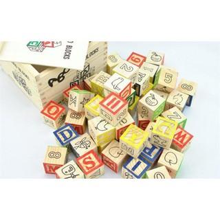 Bộ đồ chơi học chữ 48 khối lập phương cho bé vừa học vừa chơi