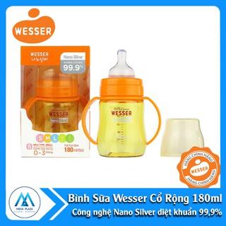 Bình sữa Wesser Nano Silver cổ rộng 180ml giá rẻ nhất DTA