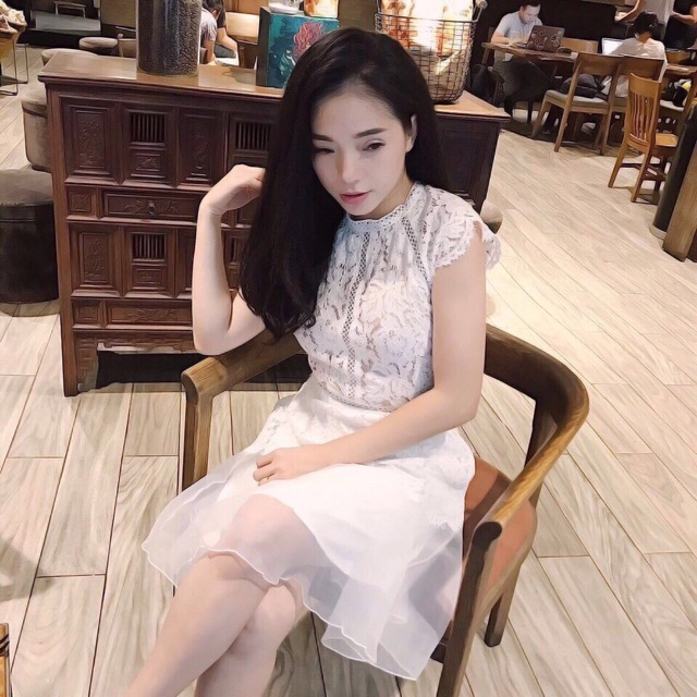 Đầm ren pha sheer (có clip ảnh cận vải)