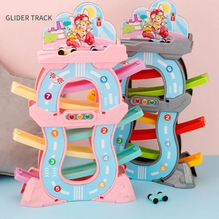 LT03-Toddler Toys for 1 2 Years Old Boy and Girl Gifts Racing Track Car Ramp Racer with 4 Mini Cars