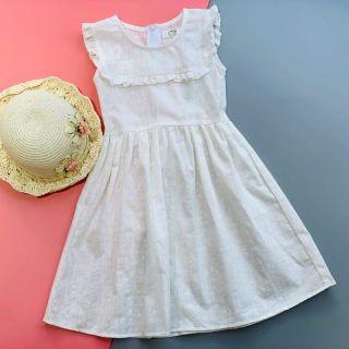 Váy thô linen cho bé gái-KF14-KIFI