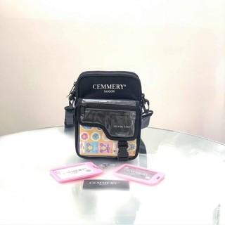 Túi đeo chéo thời trang cho nam và nữ kiểu mới chữ cemmery có khoá kéo kèm hình thật
