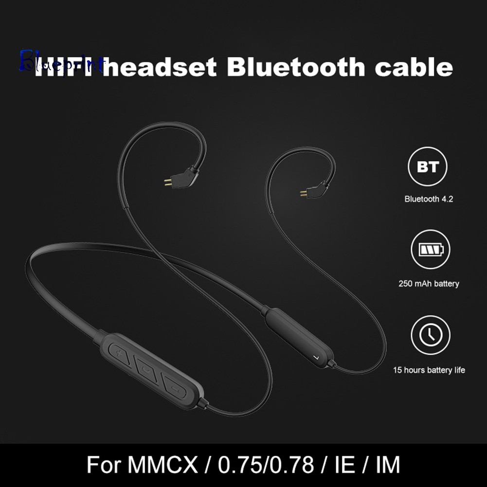 ☞BPWireless 4.2 Bluetooth Cable Earphones Wire with MMCX 0.78 IE80 IM50 Interface