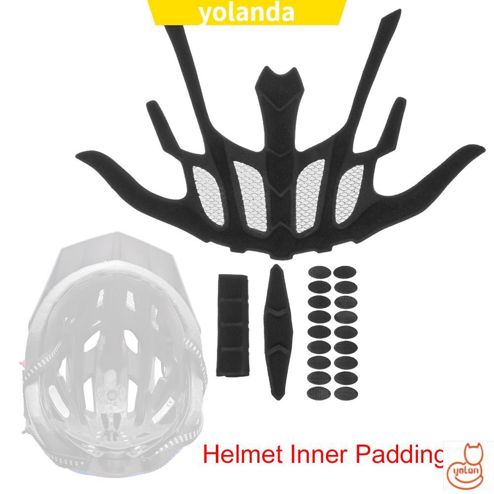 Bộ Đệm Xốp Lót Mũ Bảo Hiểm Kèm Lưới Chống Côn Trùng Thay Thế Thông Dụng Cho Xe Đạp / Xe Máy